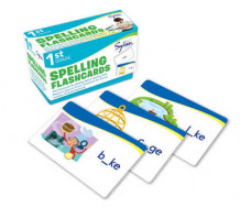 First Grade Spelling Flashcards av Sylvan Learning og Grade 1 (Undervisningskort)