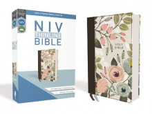 NIV, Thinline Bible, Cloth over Board, Floral, Red Letter Edition, Comfort Print av Zondervan (Innbundet)