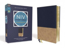 NIV Study Bible, Fully Revised Edition, Leathersoft, Navy/Tan, Red Letter, Comfort Print av Kenneth L. Barker, Mark L. Strauss, Jeannine K. Brown, Craig L. Blomberg og Michael Williams (Praktinnbinding)