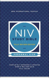Omslag - NIV Study Bible, Fully Revised Edition, Personal Size, Hardcover, Red Letter, Comfort Print