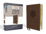Omslag - NIV, Thinline Reference Bible, Large Print, Leathersoft, Brown, Red Letter Edition, Comfort Print