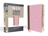 Omslag - NIV, Thinline Reference Bible, Large Print, Leathersoft, Pink/Brown, Red Letter Edition, Comfort Print
