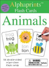 Omslag - Alphaprints: Wipe Clean Flash Cards Animals