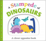 Omslag - Picture Fit Board Books: A Stampede of Dinosaurs