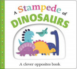 Omslag - Picture Fit Board Books: A Stampede of Dinosaurs (Large)