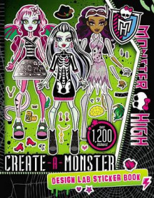 Monster High: Create-A-Monster Design Lab Sticker Book av Kirsten Mayer (Heftet)