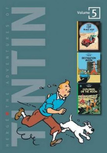Adventures of Tintin 3 Complete Adventures in One Volume: WITH Destination Moon AND Explorers on the Moon av Herge (Innbundet)