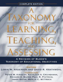 A Taxonomy for Learning, Teaching, and Assessing (Heftet)