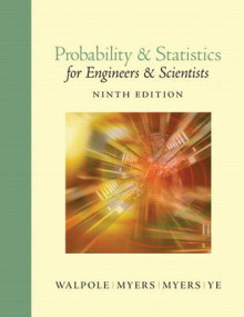 Probability and Statistics for Engineers and Scientists av Ronald E. Walpole, Raymond H. Myers, Sharon L. Myers og Keying Ye (Innbundet)