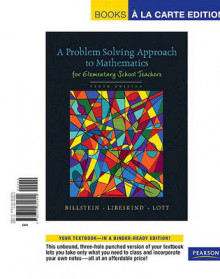 Problem Solving Approach to Mathematics for Elementary School Teachers, A, Books a la Carte Edition av Rick Billstein, Shlomo Libeskind og Johnny W Lott (Perm)
