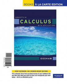 Concepts of Calculus with Applications, Books a la Carte Edition av Martha Goshaw (Perm)