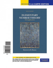 Elementary Number Theory, Books a la Carte Edition av Kenneth H Rosen (Perm)