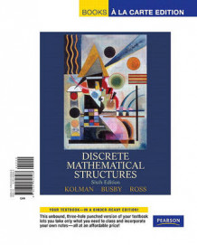Discrete Mathematical Structures, Books a la Carte Edition av Bernard Kolman, Robert Busby og Sharon C Ross (Perm)