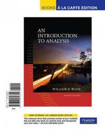 Introduction to Analysis, An, Books a la Carte Edition av William R Wade (Perm)