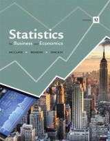 Omslag - Statistics for Business and Economics