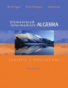 Elementary and Intermediate Algebra av Marvin L. Bittinger, David J. Ellenbogen og Barbara L. Johnson (Innbundet)