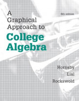 Omslag - A Graphical Approach to College Algebra Plus New MyMathLab - Access Card Package