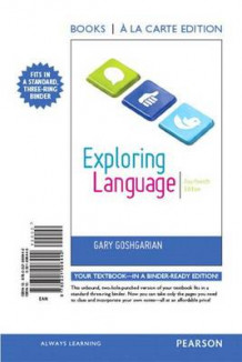 Exploring Language, Books a la Carte Plus Mywritinglab -- Access Card Package av Gary Goshgarian (Blandet mediaprodukt)