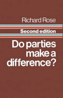 Do Parties Make a Difference? 1984 av Richard Rose (Heftet)