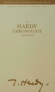 A Hardy Chronology av Timothy Hands (Innbundet)