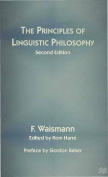 The Principles of Linguistic Philosophy 1997 av Friedrich Waismann (Heftet)