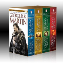 A song of ice and fire 1-4 ; A game of thrones ; A clash of kings ; A storm of swords ; A feast for crows av George R.R. Martin (Heftet)
