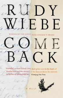 Come Back av Rudy Wiebe (Heftet)