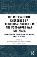 Omslag - The International Emergence of Educational Sciences in the Post-World War Two Years