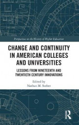 Omslag - Change and Continuity in American Colleges and Universities