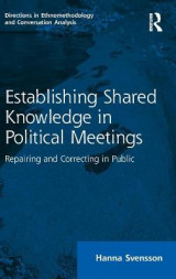 Omslag - Establishing Shared Knowledge in Political Meetings