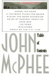 Table of Contents av John McPhee (Heftet)