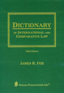 Dictionary of International and Comparative Law (Innbundet)