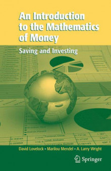 An Introduction to the Mathematics of Money av David Lovelock, Mendel Marilou og Arthur L. Wright (Innbundet)