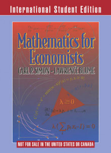 Mathematics for Economists International Student Edition av Lawrence E. Blume og Carl P. Simon (Heftet)