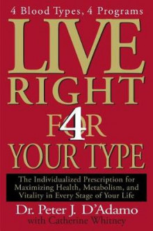 Live Right 4 Your Type av Dr Peter J D'Adamo og Catherine Whitney (Innbundet)