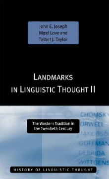 Landmarks in Linguistic Thought: v.2 av John E. Joseph, Nigel Love og Talbot J. Taylor (Heftet)
