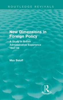 New Dimensions in Foreign Policy av Max Beloff (Heftet)