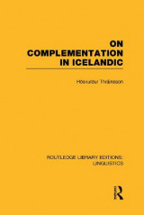 Omslag - On Complementation in Icelandic