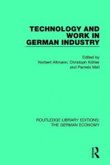 Omslag - Technology and Work in German Industry
