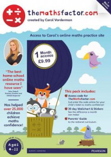 The Maths Factor: 1 Month Access to Carol Vorderman's TheMathsFactor.com av Carol Vorderman (Blandet mediaprodukt)