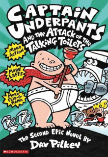 Captain Underpants and the attack of the talking toilets av Dav Pilkey (Heftet)