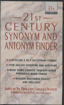 21st Century Synonym And Antonym Finder av Barbara Ann Kipfer (Heftet)