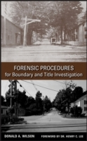 Forensic Procedures for Boundary and Title Investigation av Donald A. Wilson (Innbundet)