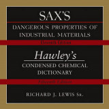 Omslag - Sax's Dangerous Properties of Industrial Materials: AND Hawley's Condensed Chemical Dictionary CD-ROM
