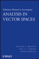 Analysis in Vector Spaces: Solutions Manual av Mustafa A. Akcoglu, Paul F.A. Bartha og Dzung Minh Ha (Heftet)