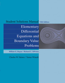 Student Solutions Manual to accompany Boyce Elementary Differential Equations 10e & Elementary Differential Equations with Boundary Value Problems 10e av William E. Boyce, Richard C. DiPrima, Charles W. Haines og Tamas Wiandt (Heftet)