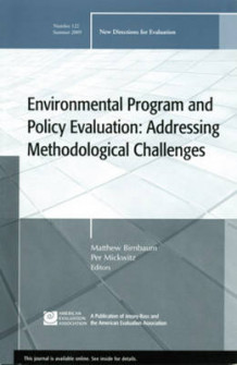 Environmental Program and Policy Evaluation Summer 2009 (Heftet)