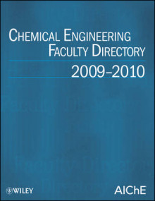 Chemical Engineering Faculty Directory 2009-2010 av J.Steven Swinnea og AIChE (Heftet)