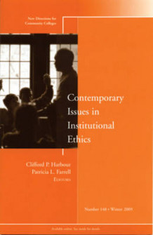 Contemporary Issues in Institutional Ethics Winter 2009 av CC (Community Colleges) (Heftet)