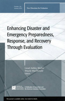 Enhancing Disaster and Emergency Preparedness, Response, and Recovery Through Evaluation Summer 2010 av EV (Evaluation) (Heftet)